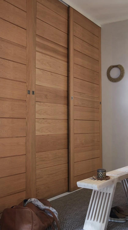 portes de placard coulissantes grises