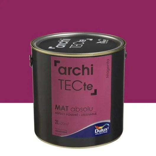 Peinture Rose Magenta DULUX VALENTINE Architecte 2 L