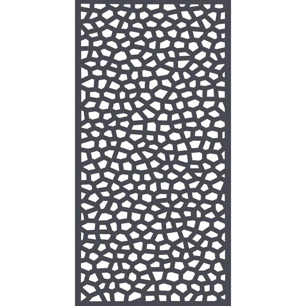 Panneau Treillis Polypropylene Ajoure Mosaic L 100 X H 200 Cm Gris Leroy Merlin