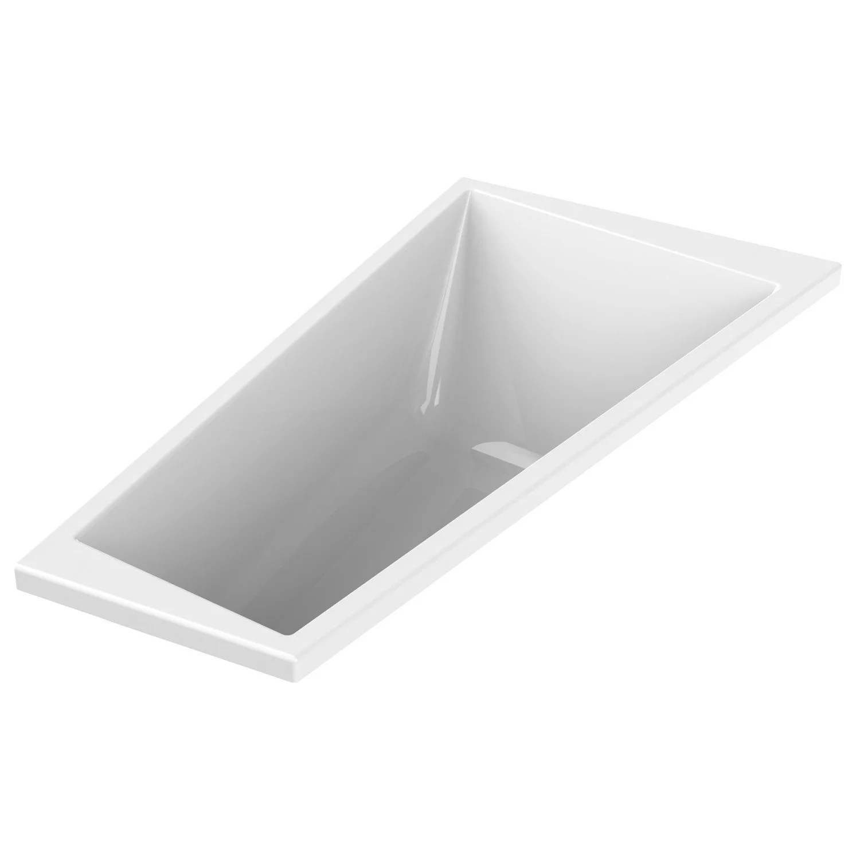 baignoire asymetrique droite l 170x l 90 cm blanc sensea premium design