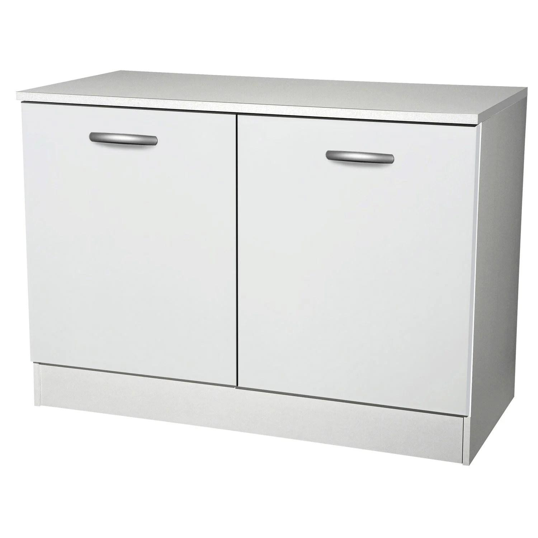 meuble de cuisine bas 2 portes blanc h86x l120x p60cm