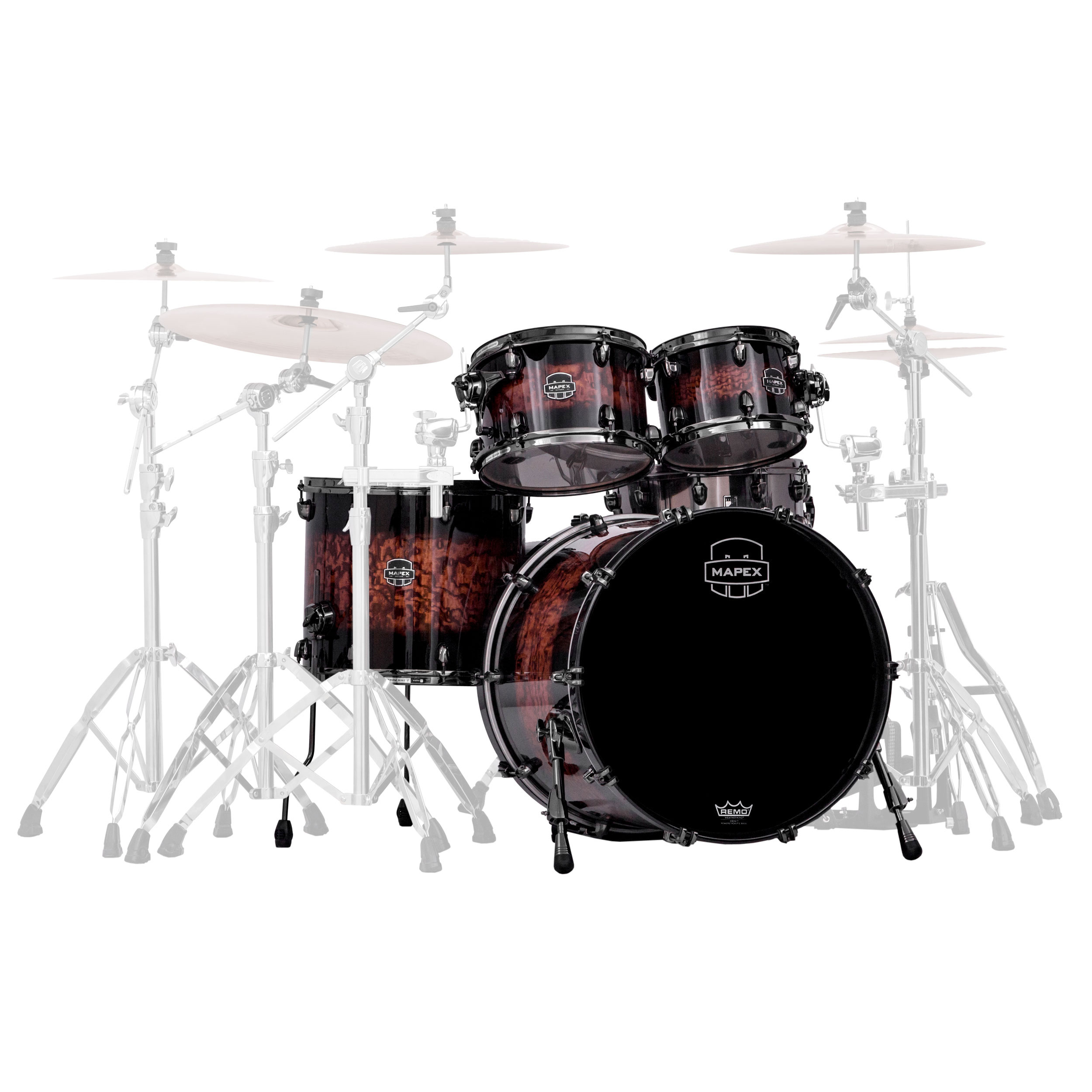Mapex Saturn Iv Mh Exotic 4 Piece Rock Fast Drum Set Shell Pack 22 Bass 10 12 16 Toms