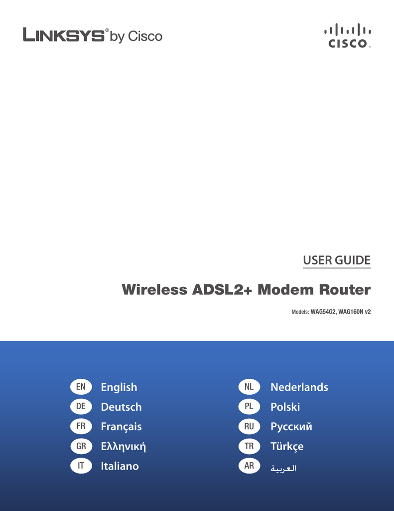 Cisco Linksys Wag160n User Guide Manualzz