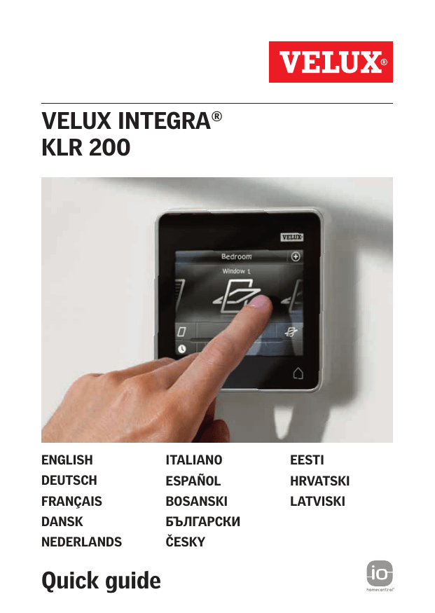 Velux Kmx 200 User Manual Manualzz