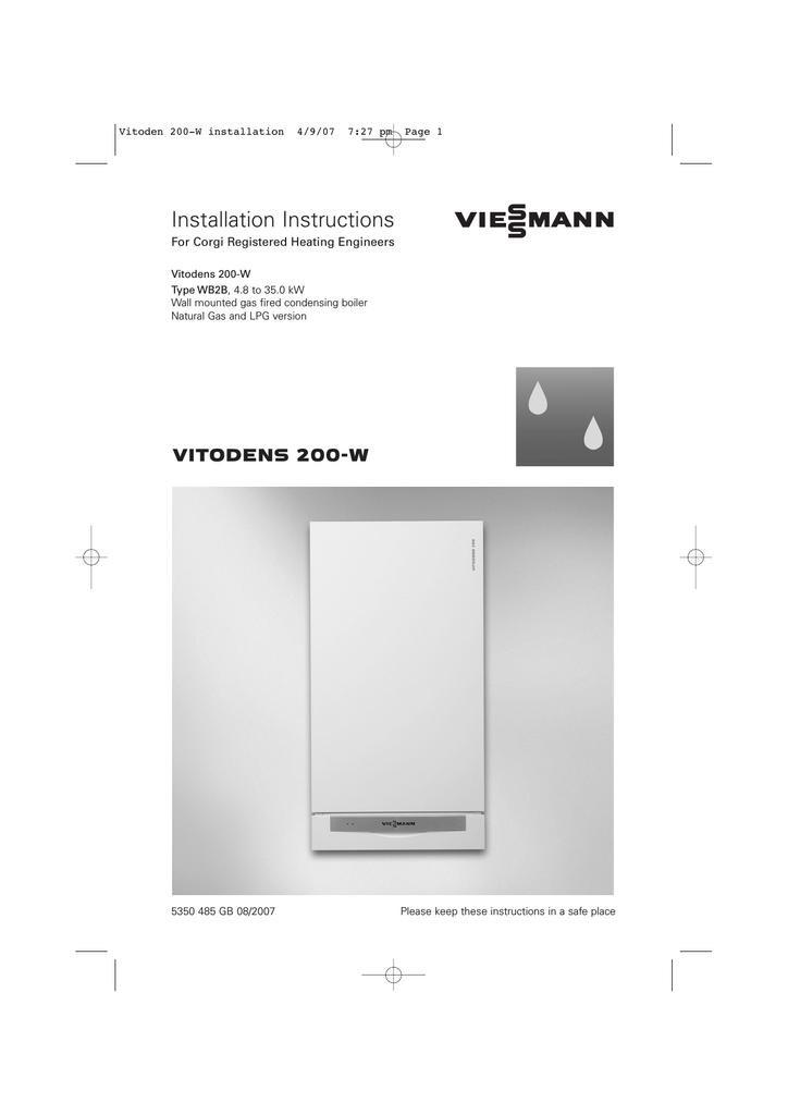 Viessmann Vitodens 200 W System Specifications Manualzz