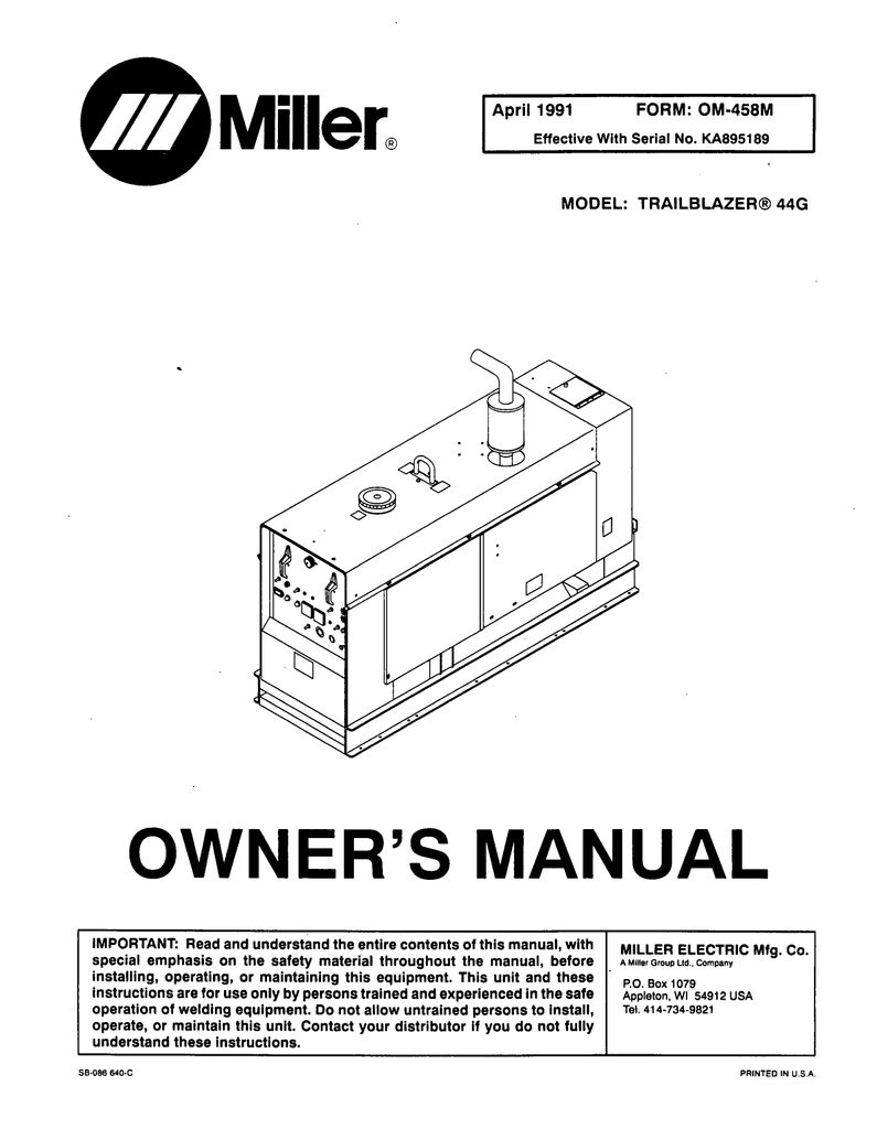 Miller Maxstar 200 Welding Machine Wiring Diagram