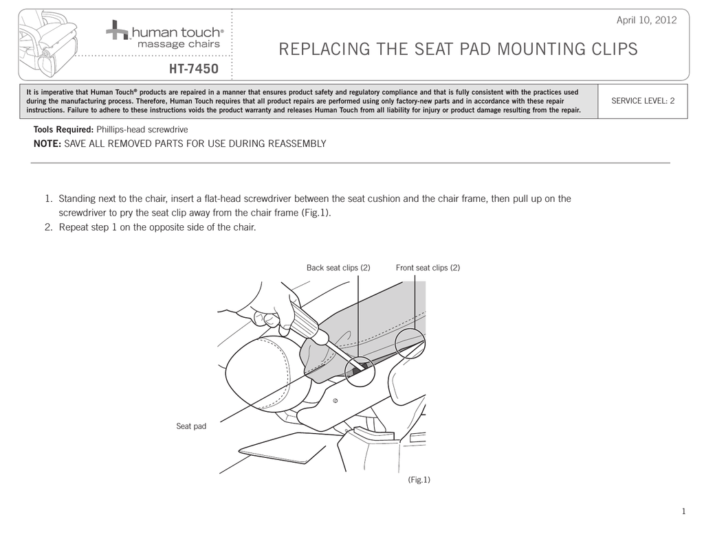 Human Touch Ht 7450 Wheelchair User Manual Manualzz