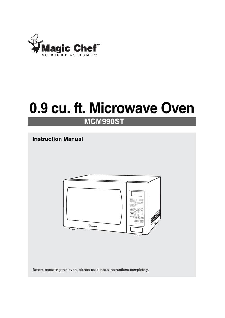 magic chef mcm990st user manual manualzz