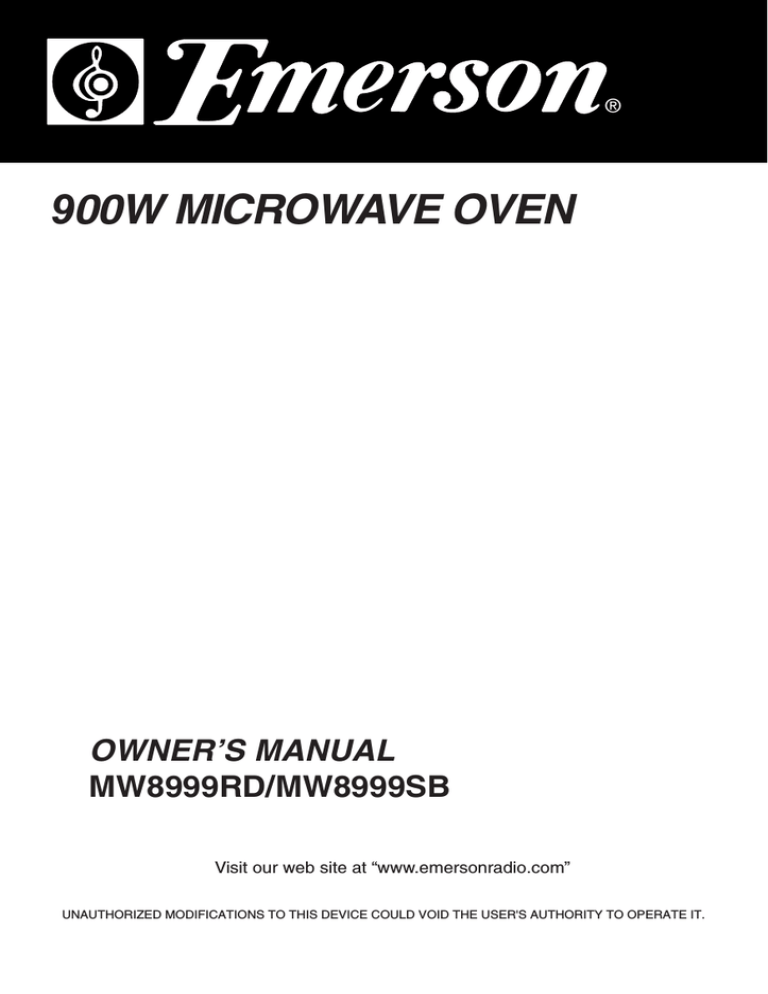emerson mw8999sb owner s manual manualzz
