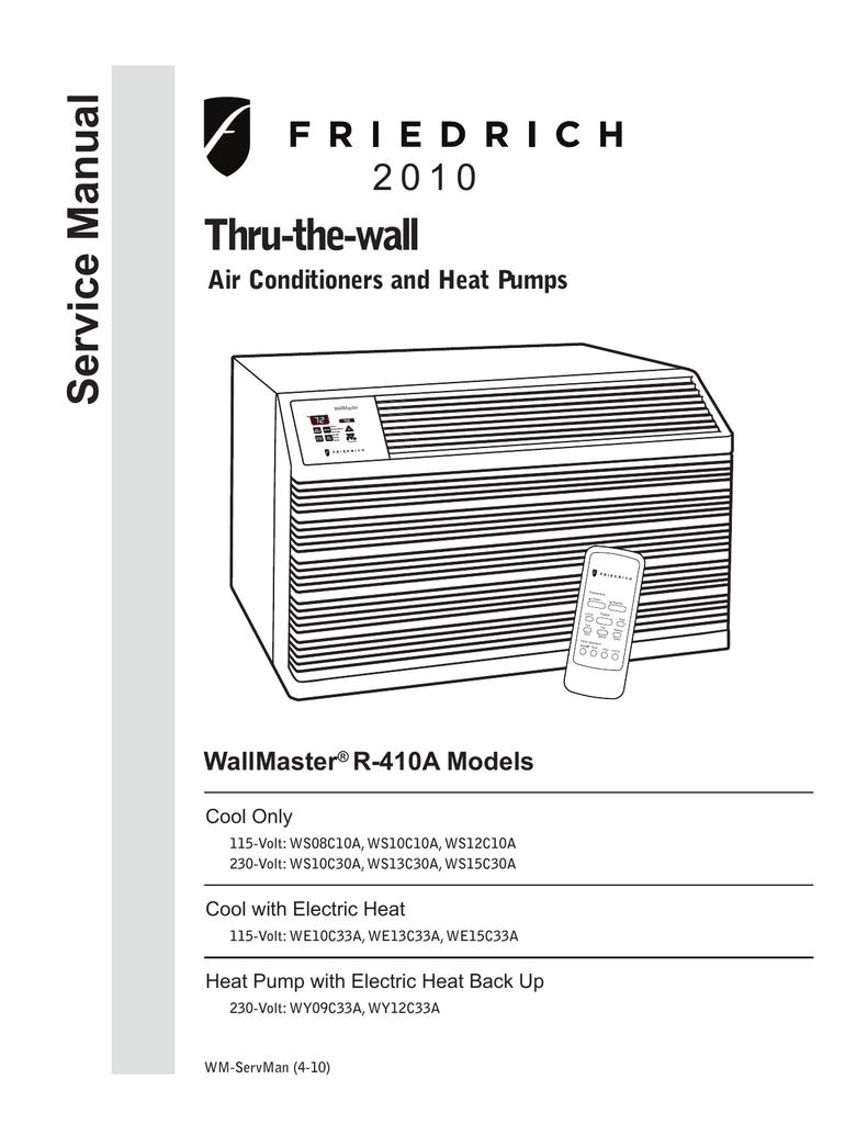 Friedrich Air Conditioners Wire Diagram Search For Wiring Diagrams Wallmaster Rh Pandarestaurant Us Split Conditioner