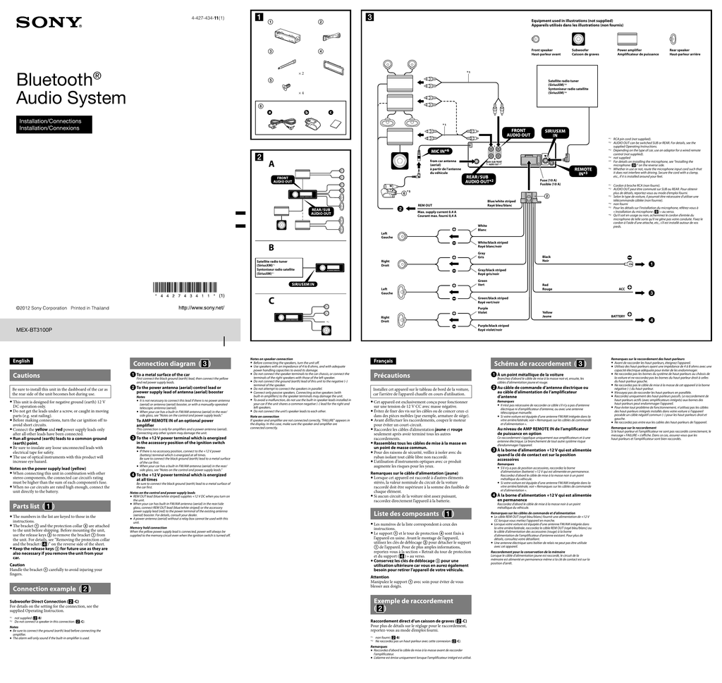 30 Sony Cdx Gt270mp Wiring Diagram