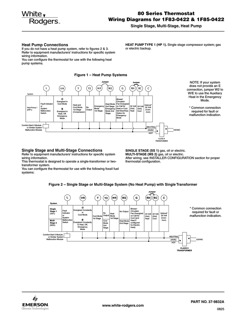White Rodgers Thermostat 1f56w 444 Wiring Diagram For Model Of Dico