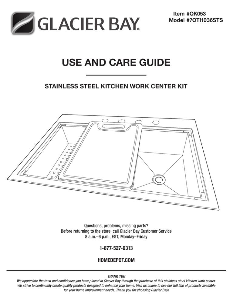 glacier bay qk053 installation guide