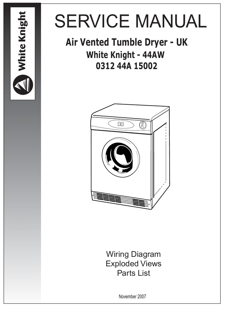 Wiring Diagram For White Knight 44aw - Library Of Wiring Diagrams •