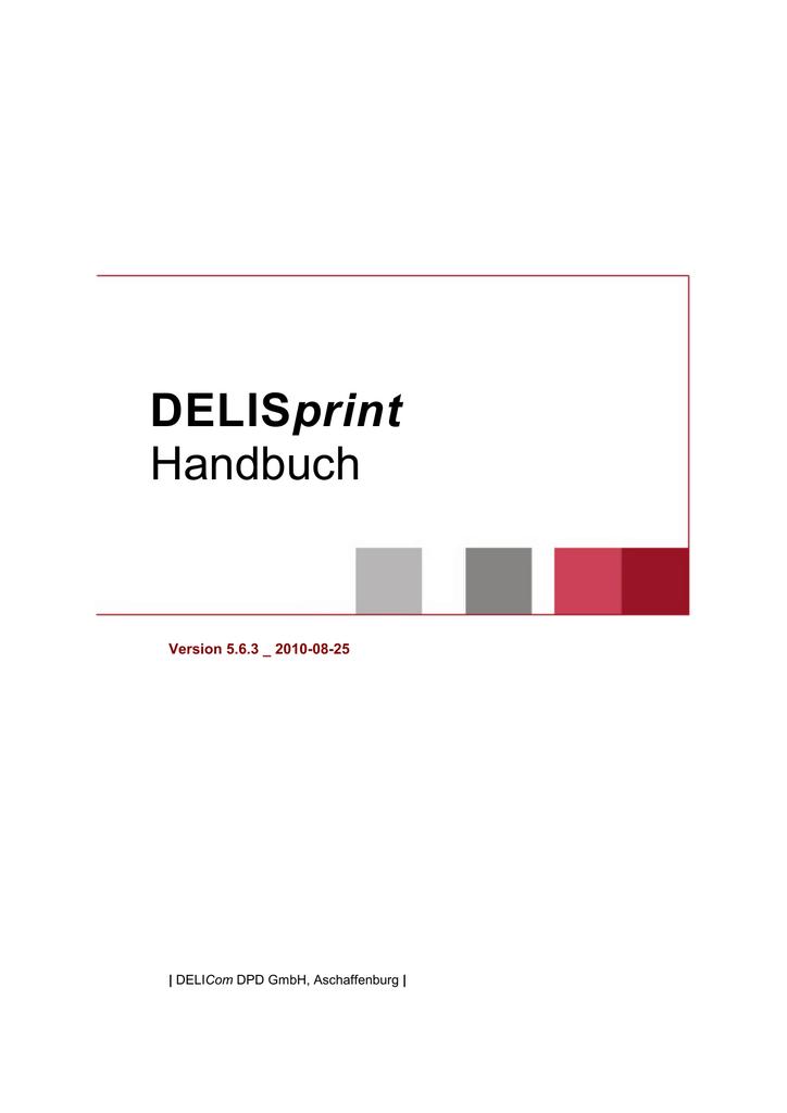 Delisprint Handbuch D Manualzz