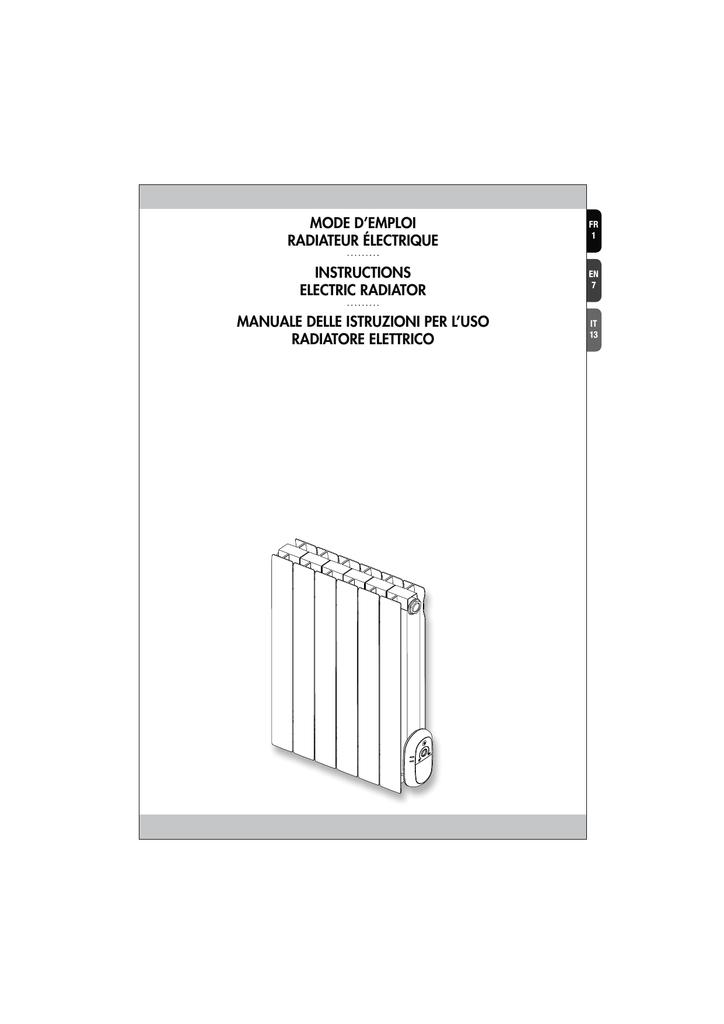 Mode D Emploi Radiateur Electrique Instructions Manualzz
