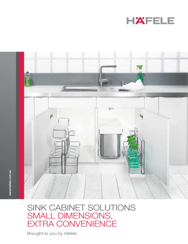 sink cabinet solutions small dimensions
