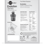 Evolution Series Food Waste Disposers Grind More Hear Less Manualzz