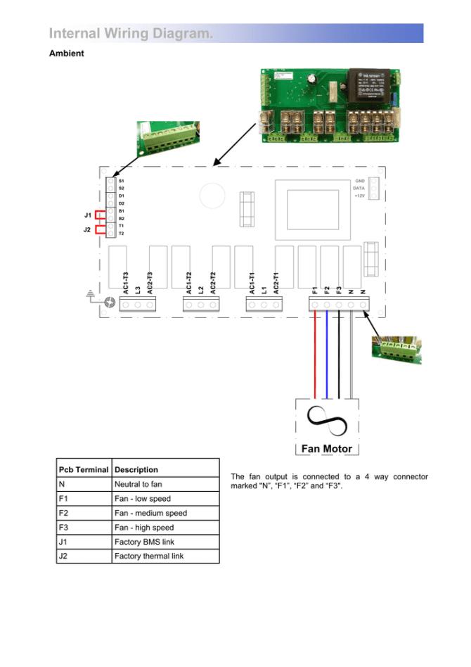 internal wiring diagram fan motor ambient  manualzz