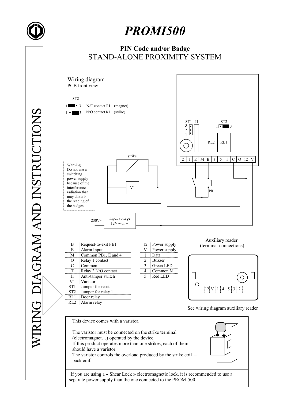 Request To Exit Wiring Diagram