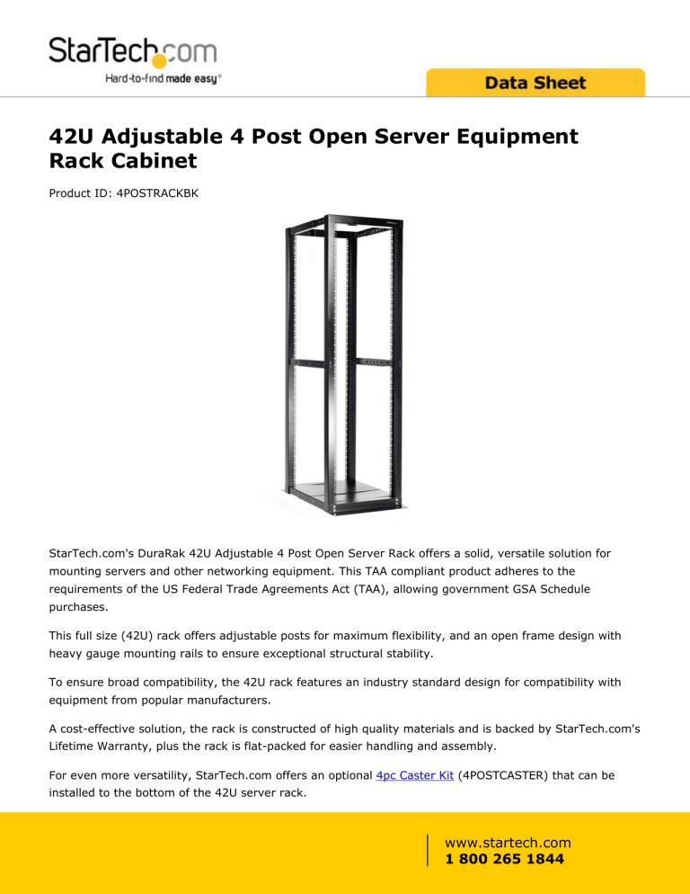 open server equipment rack