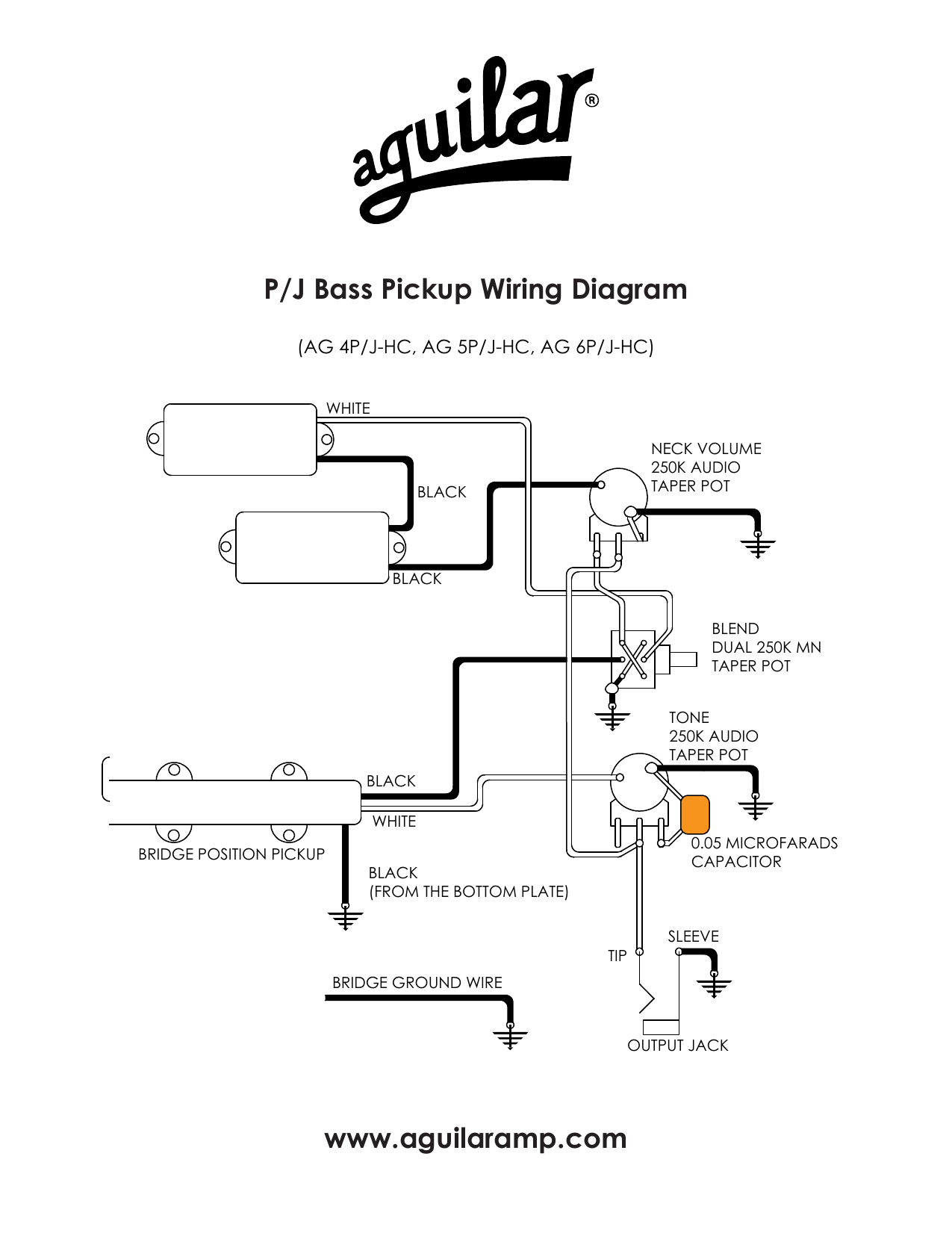 Fender P J Bass Wiring Diagram