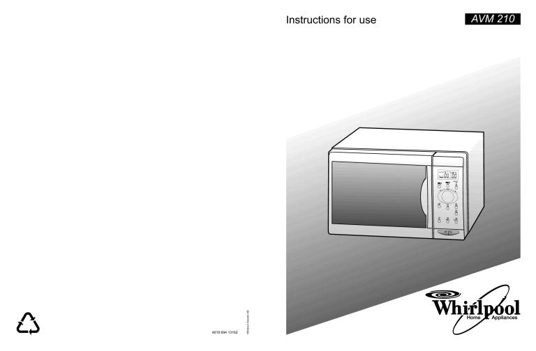whirlpool avm 210 wp w user guide