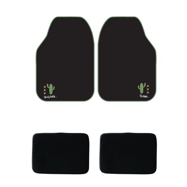 tapis tapis universels jeu complet de tapis de voiture universels noir moquette cactus