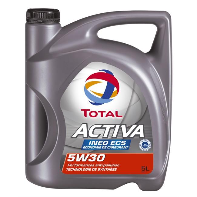 huile moteur total activa ineo ecs 5w30 essence et diesel 5 l norauto fr