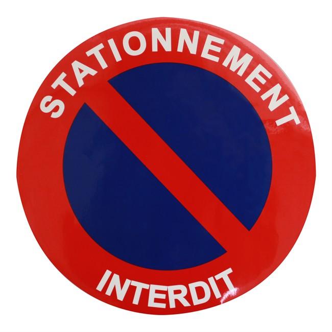1 Disque De Stationnement Interdit O 25 Cm Autocollant Norauto Fr