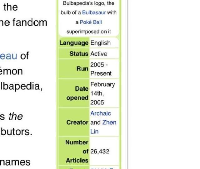 Bulbapedia Began Feb 14 2005