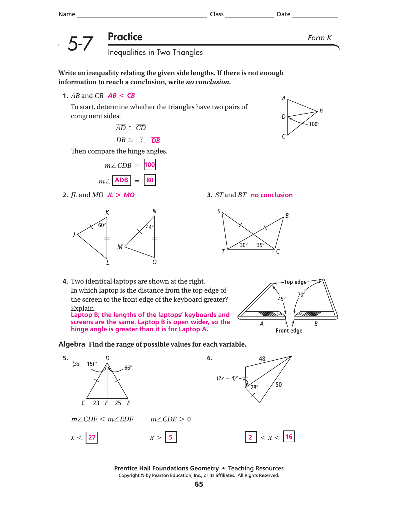 Worksheet Law Of Sines A 6 2