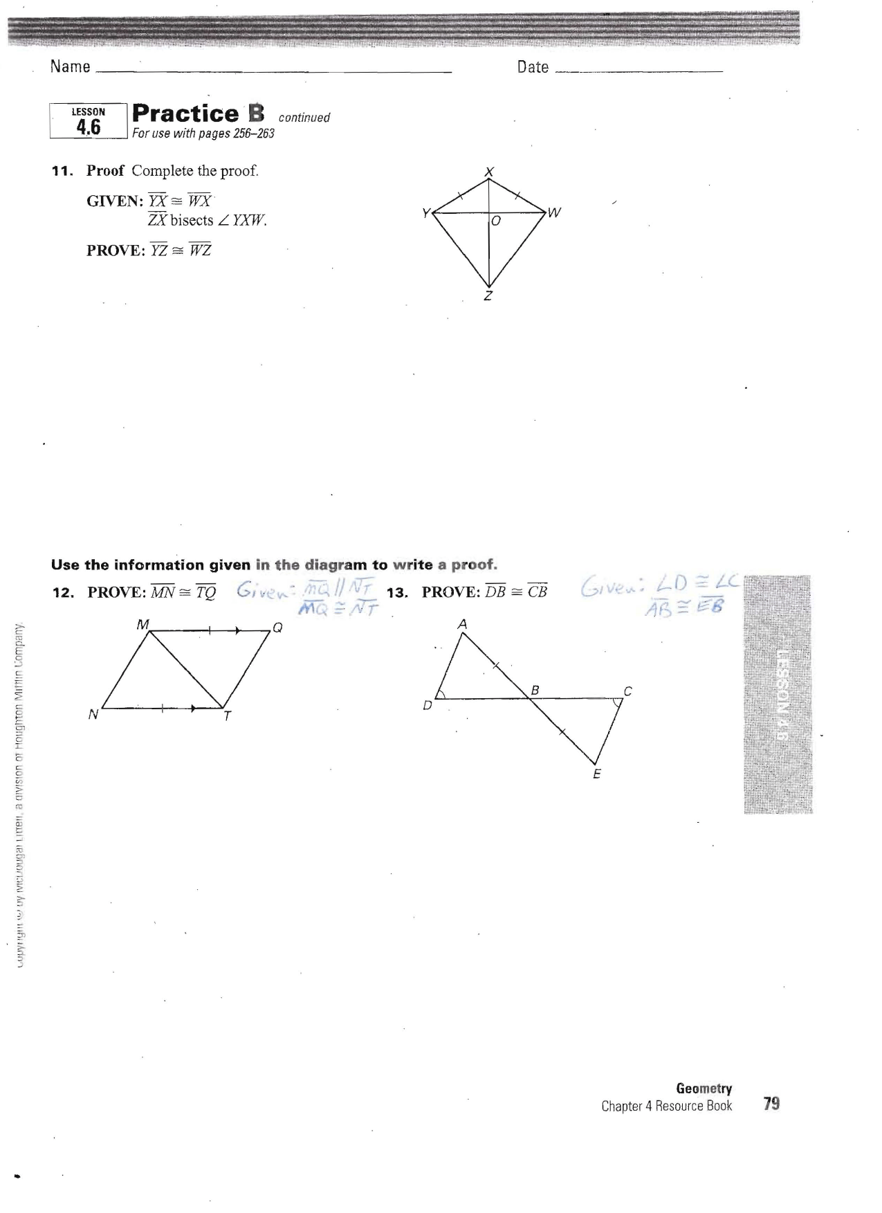 Section 4 6 Proof Practice Worksheet With Answers San Juan