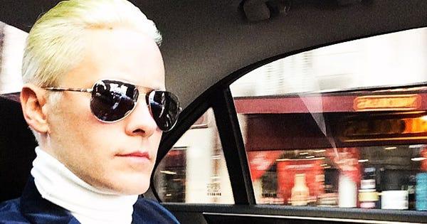 Jared Leto Platinum Blond Hair Dye