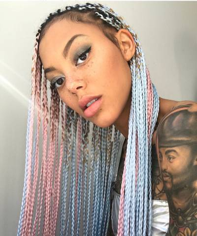 Image result for ghana african braids in rainbow colors 2020