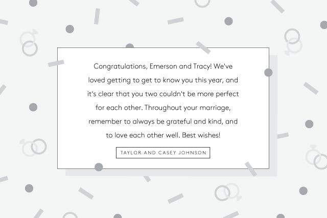 What To Write In Wedding Cards