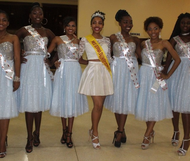 The Six Miss Talented Teen Contestants They Are From Left Melissa Ferreira Reanna Chase Cindyann Khan The Reigning Miss Talented Teen Aliya Wong