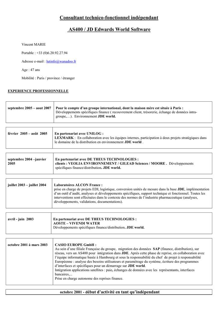 Consulter Mon Cv En Ligne Consultant Technico