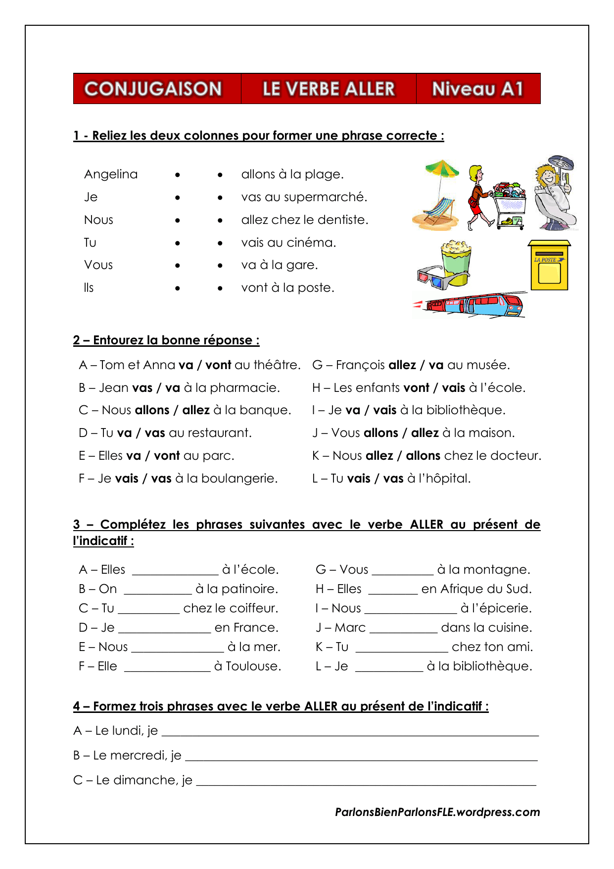 Le Verbe Aller Worksheet Printable Worksheets And Activities For Teachers Parents Tutors And Homeschool Families
