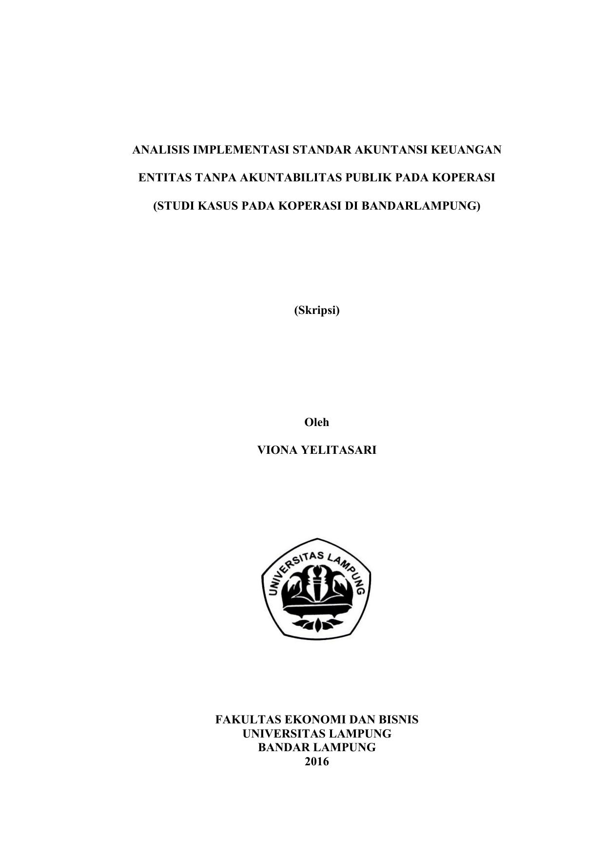 Skripsi Akuntansi Keuangan Pada Koperasi Contoh Surat