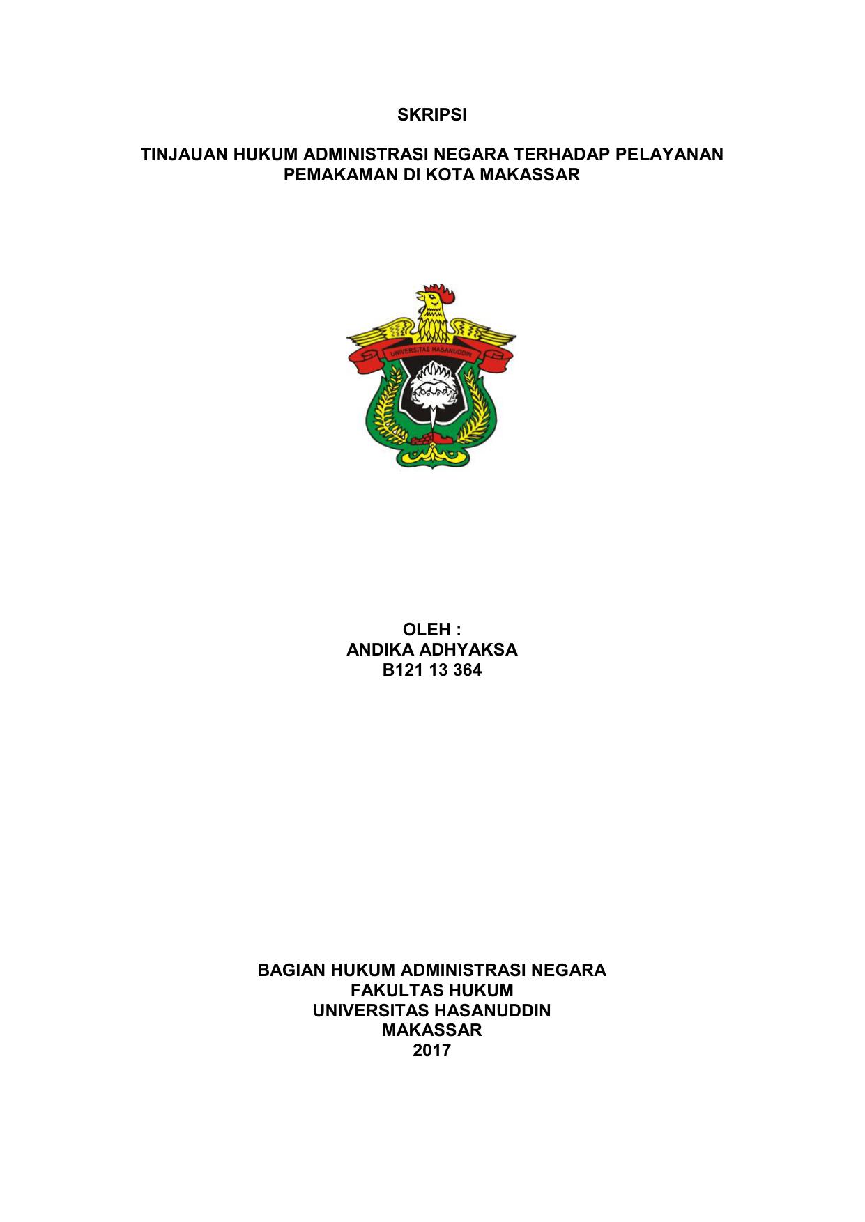 Skripsi Hukum Tata Negara Islam