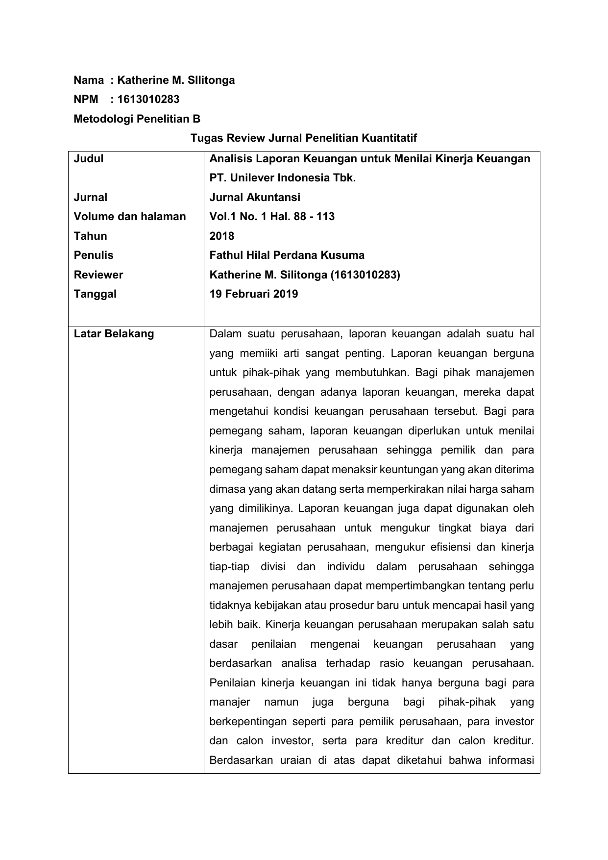 Contoh Tugas Review Jurnal