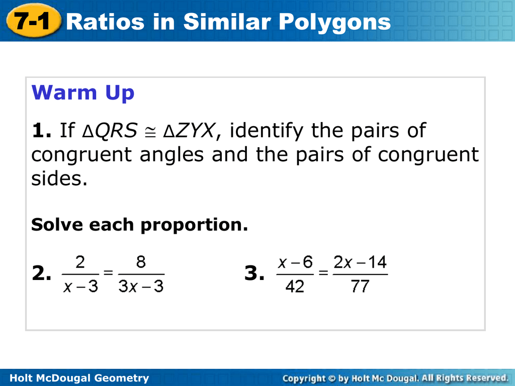 7 2 Practice Similar Polygons Worksheet Answers