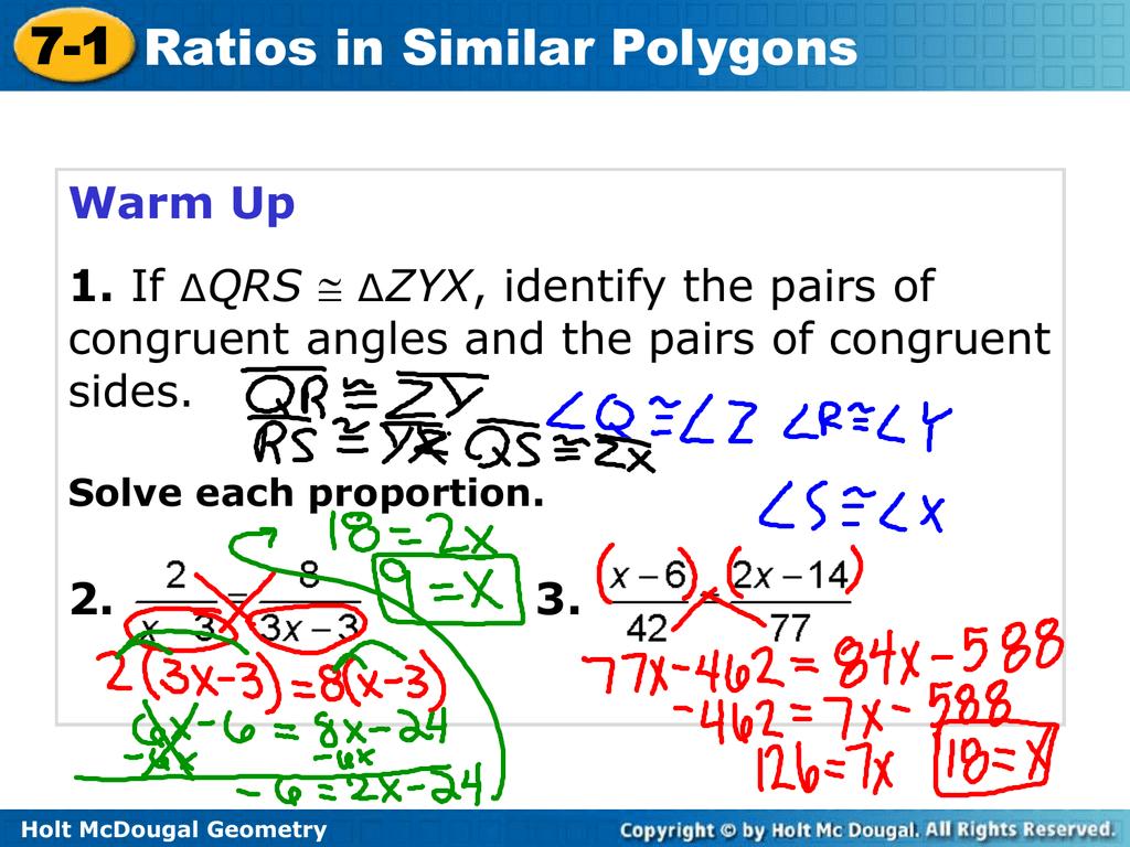 7 2 Practice Similar Polygons Worksheet Answers