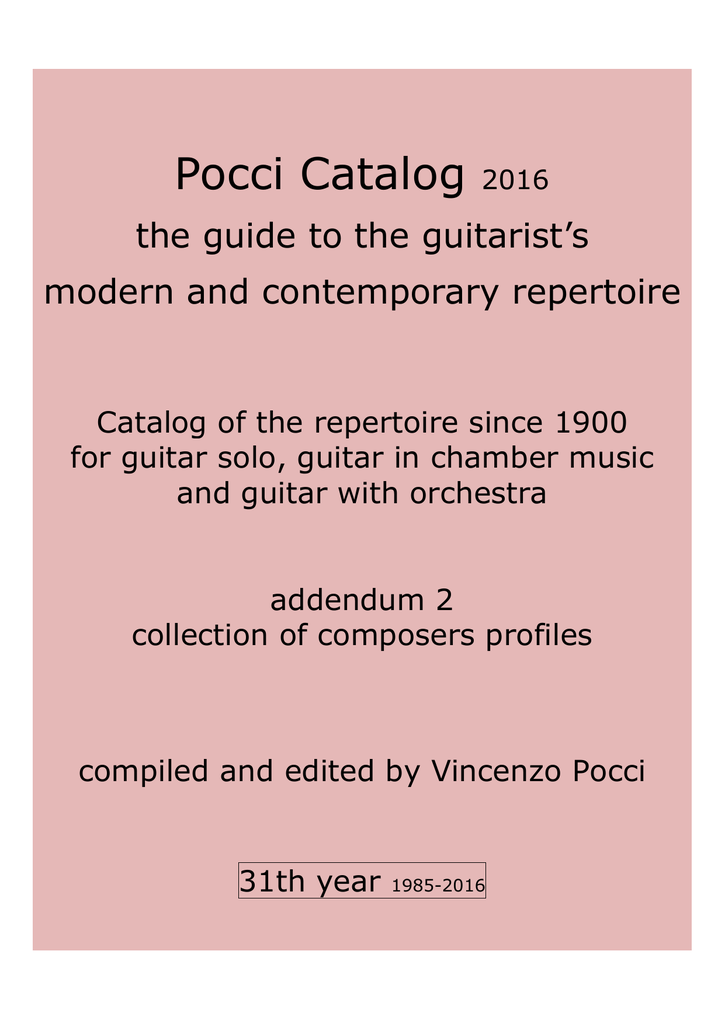 January 2016 Just Classical Guitar Club