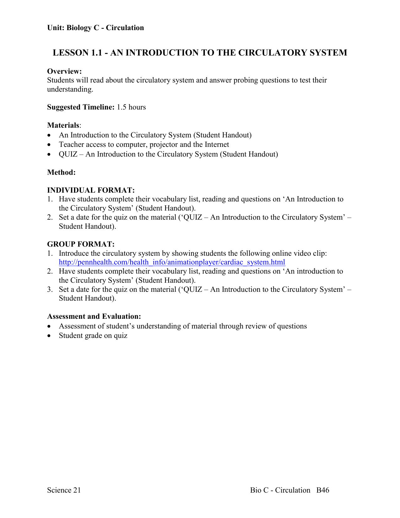 Overview Of The Circulatory System Worksheet Answer Key