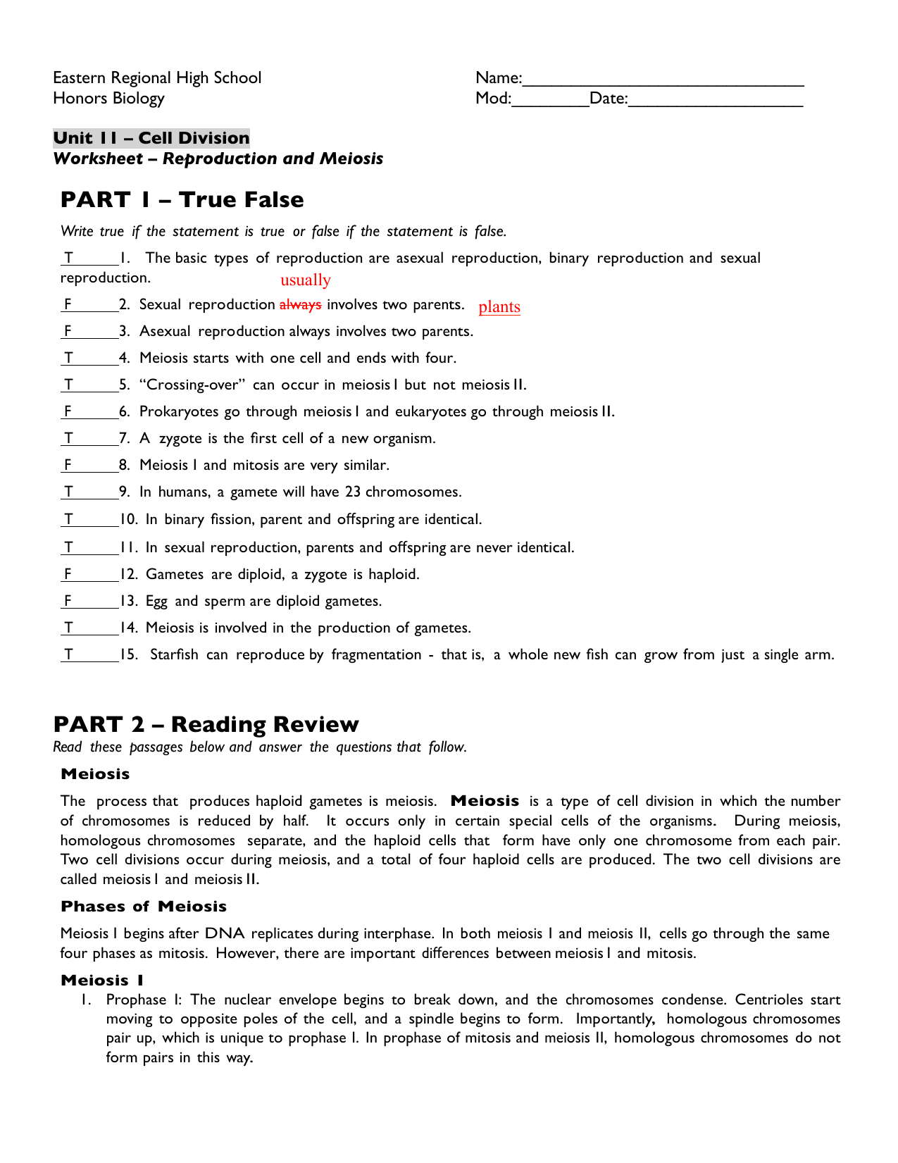 Worksheet Meiosis Vocabulary Worksheet Grass Fedjp Worksheet Study Site