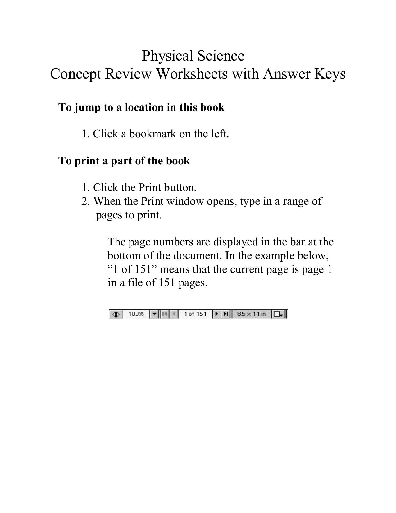 Holt Chemistry Worksheet Answers