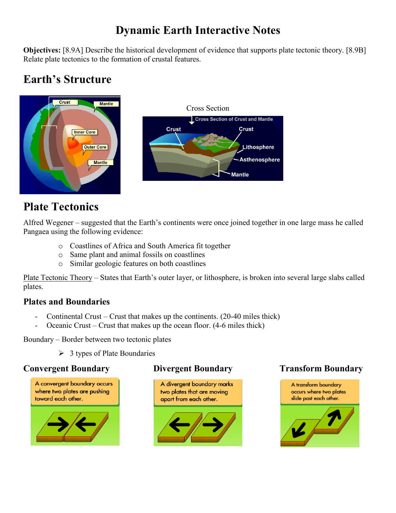 Dynamic Earth Interactive Worksheet Answers