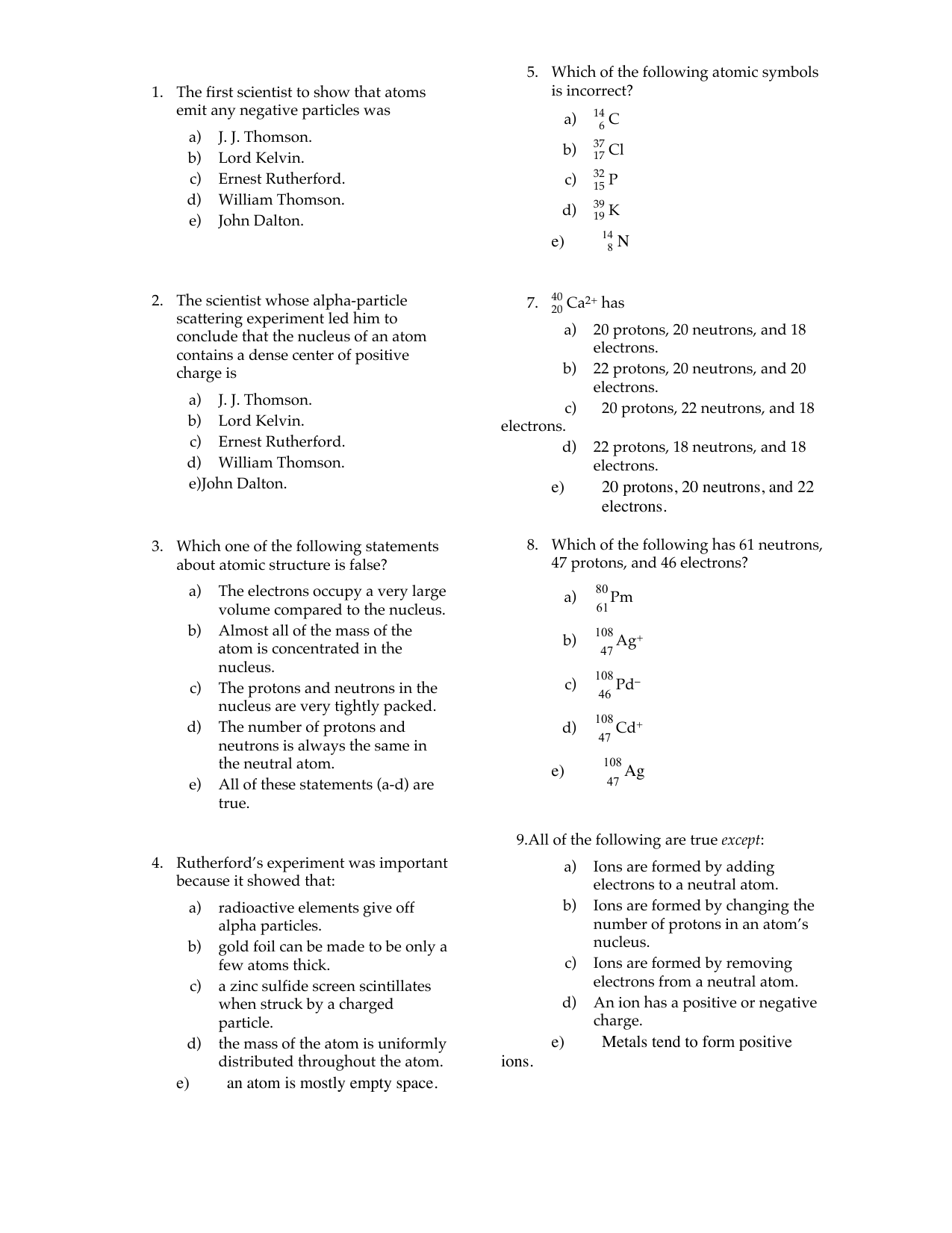 History Of The Atom Worksheet Lord Ernest Rutherford